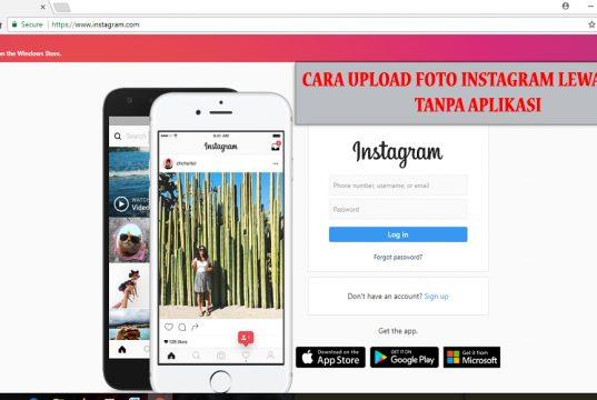 cara upload foto kedalam instagram tanpa aplikasi