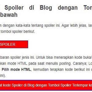 Cara Membuat Spoiler Keren di Dalam Artikel Blogger