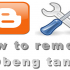 Cara Menghapus Tanda Obeng di Blog