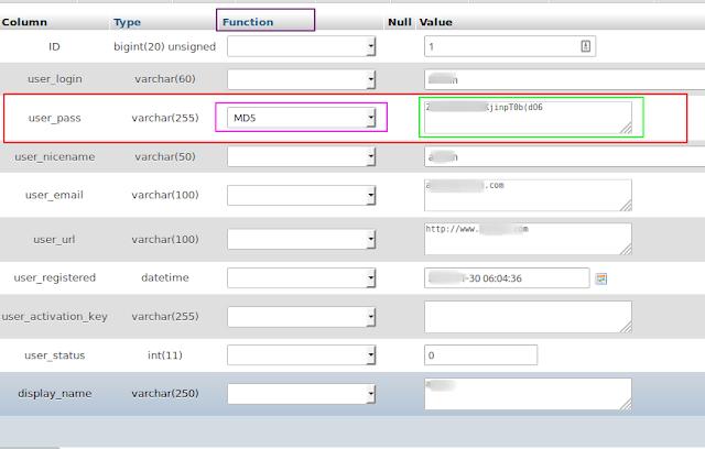 cara mengetahui nama database di phpmyadmin