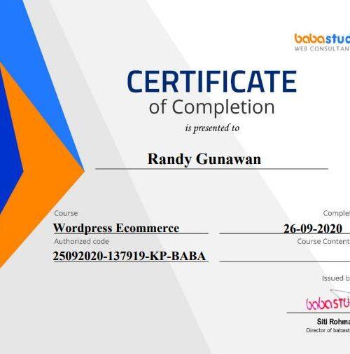 sertifikat ecommerce