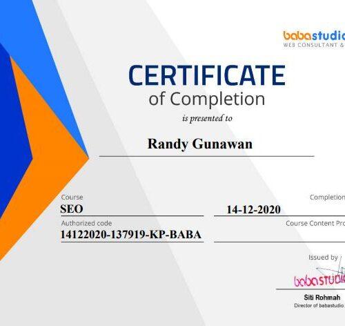 sertifikat seo terbaik